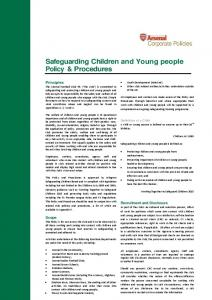 Safeguarding Children and Young people Policy & Procedures