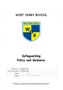 Safeguarding Policy and Guidance