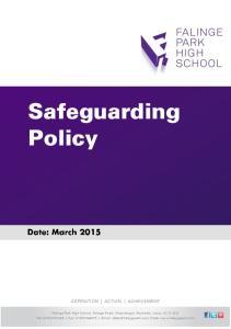 Safeguarding Policy ASPIRATION ACTION ACHIEVEMENT