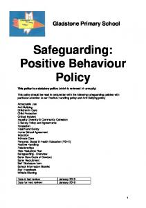 Safeguarding: Positive Behaviour Policy