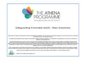 Safeguarding Vulnerable Adults - Basic Awareness