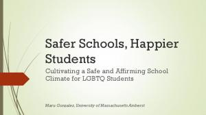 Safer Schools, Happier Students