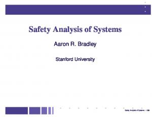 Safety Analysis of Systems
