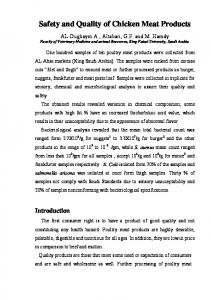 Safety and Quality of Chicken Meat Products