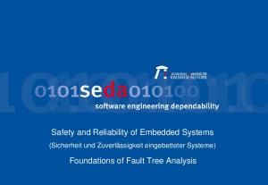 Safety and Reliability of Embedded Systems. (Sicherheit und Zuverlässigkeit eingebetteter Systeme) Foundations of Fault Tree Analysis