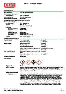 SAFETY DATA SHEET. 1. Identification. 2. Hazard(s) identification