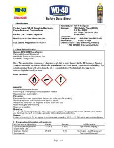 Safety Data Sheet. 1 - Identification