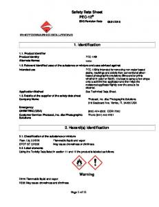 Safety Data Sheet. 1. Identification