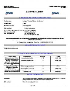 SAFETY DATA SHEET 1. PRODUCT AND COMPANY IDENTIFICATION. Satinique Dandruff Control Hair Cleanser. Product information: