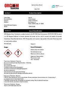 Safety Data Sheet. Alpet D2. Hazard Identification. Hazard Statements