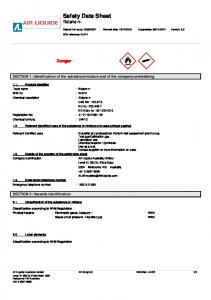 Safety Data Sheet Butane n-