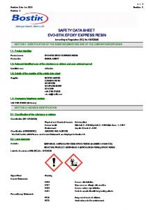SAFETY DATA SHEET EVO-STIK EPOXY EXPRESS RESIN