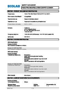 SAFETY DATA SHEET FACILIPRO ENCAPSULATION CARPET CLEANER