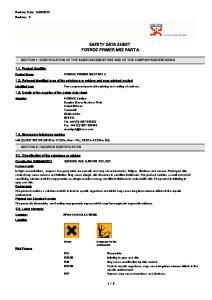 SAFETY DATA SHEET FOSROC PRIMER MS2 PART A