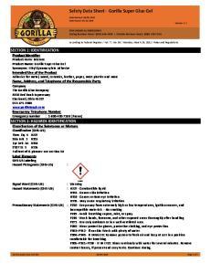 Safety Data Sheet - Gorilla Super Glue Gel