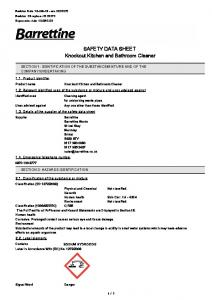 SAFETY DATA SHEET Knockout Kitchen and Bathroom Cleaner