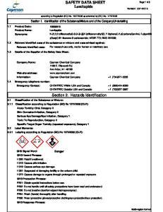 SAFETY DATA SHEET Lomitapide. Section 2. Hazards Identification
