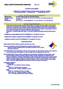 SAFETY DATA SHEET. Potential Health Effects