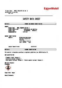 SAFETY DATA SHEET PRODUCT AND COMPANY IDENTIFICATION HAZARDS IDENTIFICATION