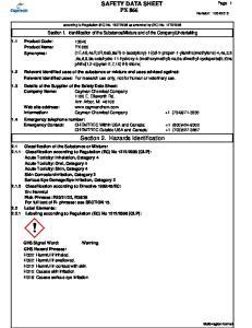 SAFETY DATA SHEET PX 866. Section 2. Hazards Identification
