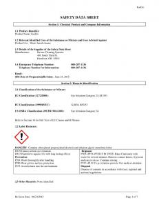 SAFETY DATA SHEET. Section 1: Chemical Product and Company Information