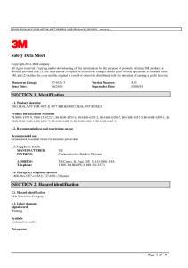 Safety Data Sheet. SECTION 1: Identification. SECTION 2: Hazard identification