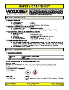 SAFETY DATA SHEET SECTION 1: IDENTIFICATION SECTION 2: HAZARD IDENTIFICATION