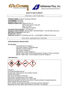 SAFETY DATA SHEET SECTION 1: IDENTIFICATION