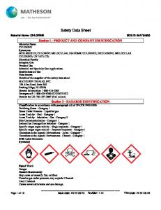 Safety Data Sheet. Section 1 - PRODUCT AND COMPANY IDENTIFICATION