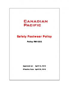 Safety Footwear Policy
