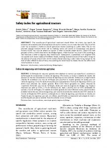 Safety index for agricultural tractors