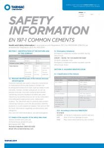 SAFETY INFORMATION EN COMMON CEMENTS
