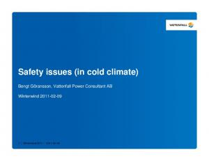 Safety issues (in cold climate)