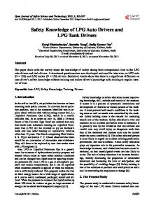 Safety Knowledge of LPG Auto Drivers and LPG Tank Drivers