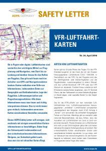 SAFETY LETTER VFR-LUFTFAHRTKARTEN ARTEN VON LUFTFAHRTKARTEN