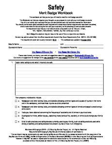 Safety Merit Badge Workbook