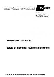 Safety of Electrical, Submersible Motors