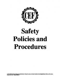 Safety Policies and Procedures