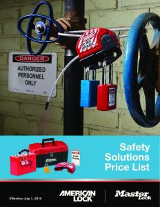 Safety Solutions Price List