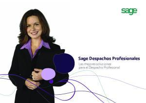 Sage Despachos Profesionales. Las mejores soluciones para el Despacho Profesional