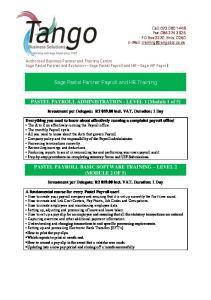 Sage Pastel Partner Payroll and HR Training