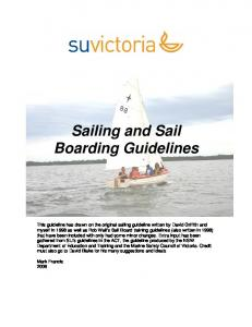Sailing and Sail Boarding Guidelines