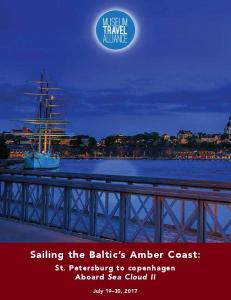 Sailing the Baltic s Amber Coast: