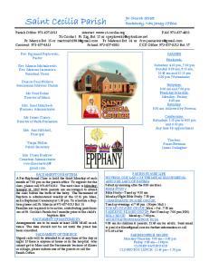 Saint Cecilia Parish. 90 Church Street Rockaway, New Jersey 07866