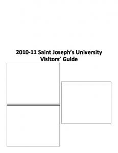 Saint Joseph s University Visitors Guide