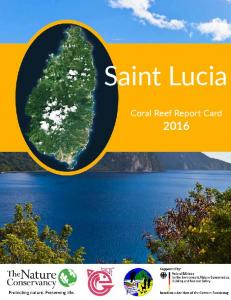 Saint Lucia. Coral Reef Report Card 2016