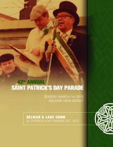 SAINT PATRICK S DAY PARADE