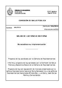 SALAS DE LACTANCIA MATERNA