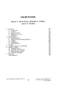 SALBUTAMOL. Hassan Y. Aboul- Enein, Abdullah A. Al-Badr, and S. E. Ibrahim