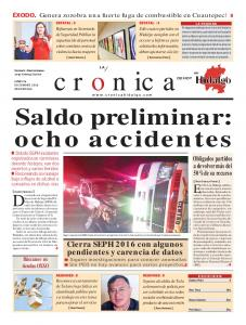 Saldo preliminar: ocho accidentes